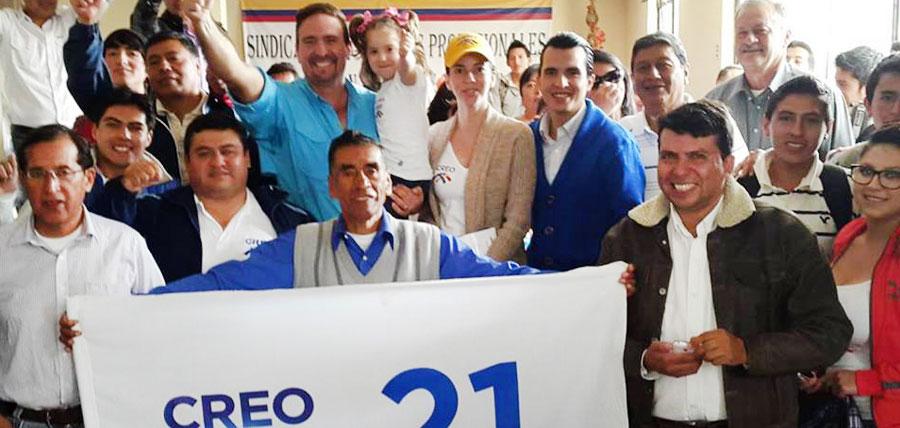 Con Santo Domingo y Bolívar CREO cierra la semana de 1,052 kilómetros recorridos por el Ecuador