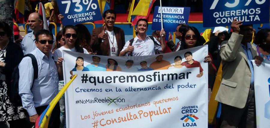 Marcha Compromiso Ecuador en Quito al CNE