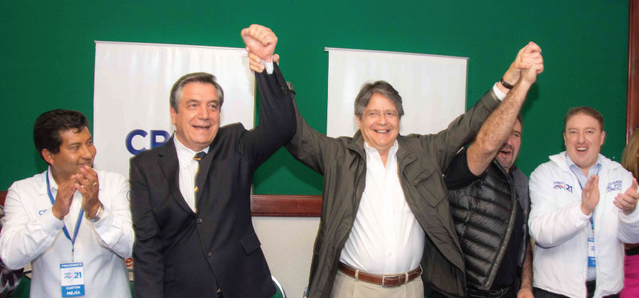 Lasso posesionó a directivas de CREO en Pichincha