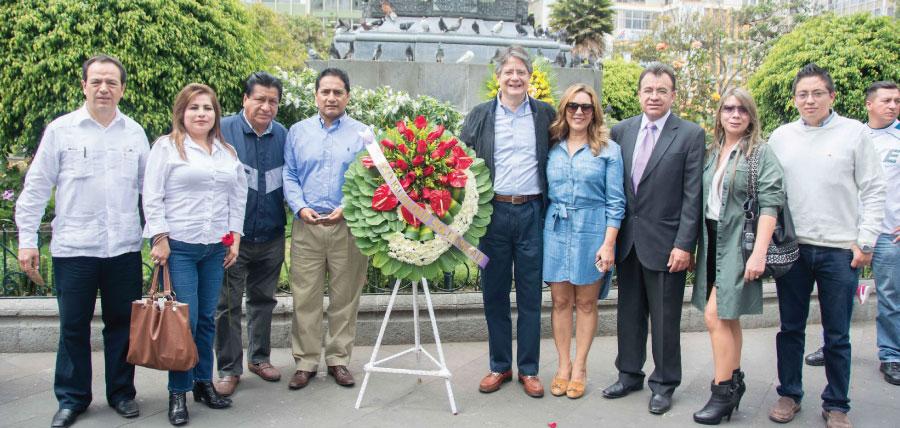 Lasso cumple agenda en Ambato y posesionó a la directiva de Tungurahua