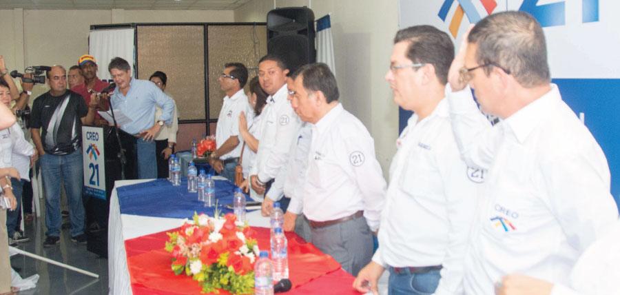 CREO posesiona a directivas de  Santo Domingo de los Tsáchilas