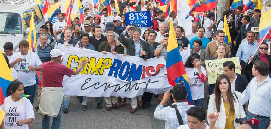 Compromiso Ecuador insiste en las calles que se llame a consulta popular