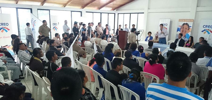 Guillermo Lasso visita la provincia de Morona y posesiona sus directivas cantonales