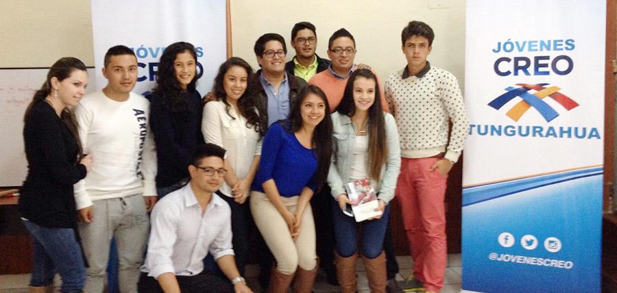 Jóvenes CREO Tungurahua y Pichincha llevan a cabo capacitación en Redes Sociales