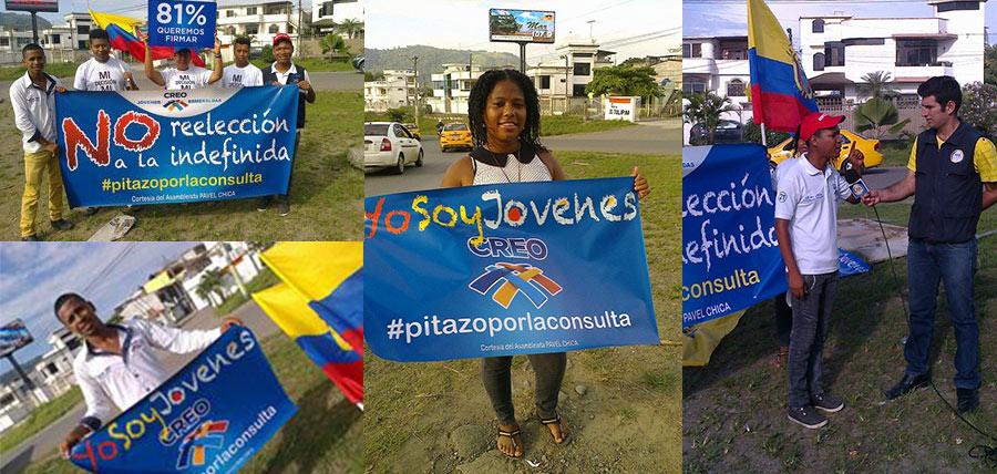 Activismo de los Jóvenes CREO se siente en la Provincia de Esmeraldas con el #PitazoporlaConsulta