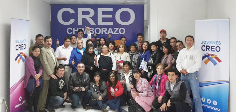 Continúa el fortalecimiento de las bases de Jóvenes CREO y Mujeres CREO en Chimborazo