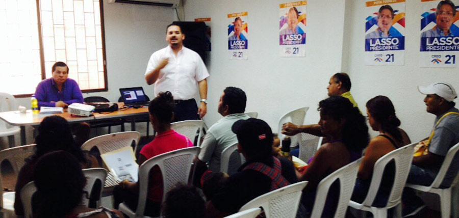 CREO capacita a los comités barriales de Guayaquil