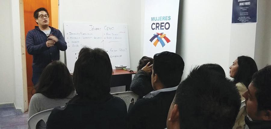 Capacitación e intercambio de experiencias Jóvenes CREO Pichincha y Cotopaxi