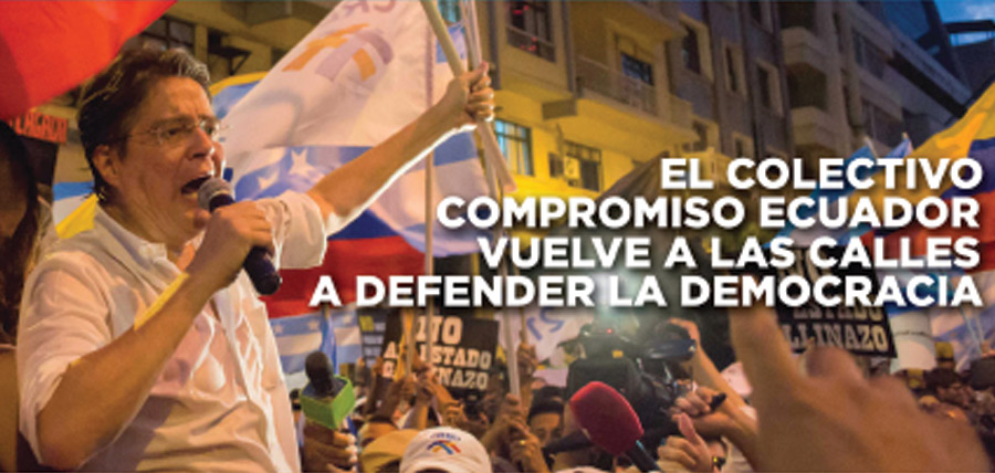 El colectivo Compromiso Ecuador vuelve a las calles a defender la democracia