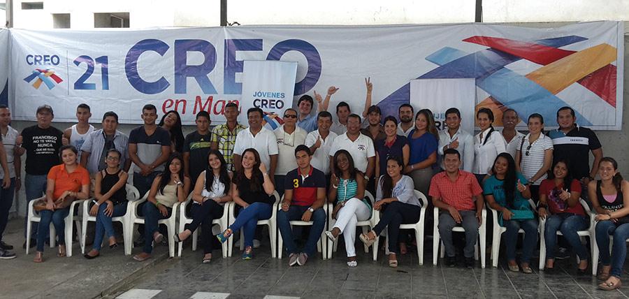 Jóvenes CREO continúa su crecimiento en la provincia de Manabí