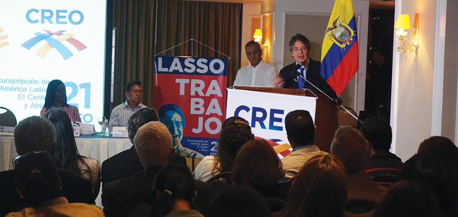 Lasso posesionó en Caracas a la directiva de Creo en Latinoamérica