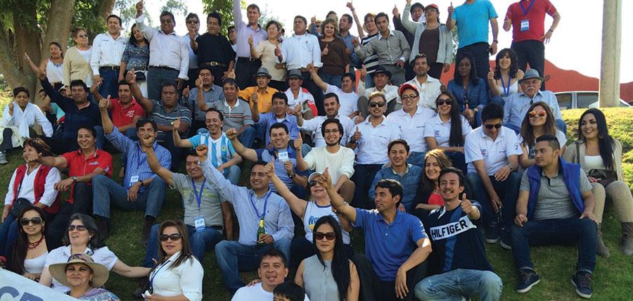 Asambleístas visitaron las bases de CREO en Tungurahua