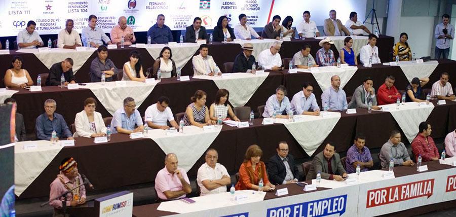 20 ACTORES POLITICOS SE UNIERON A COMPROMISO ECUADOR