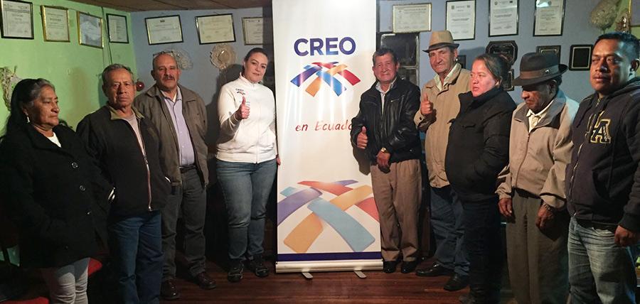 Trabajando en la estructuración de las directivas cantonales CREO Azuay estuvo en el cantón Nabón