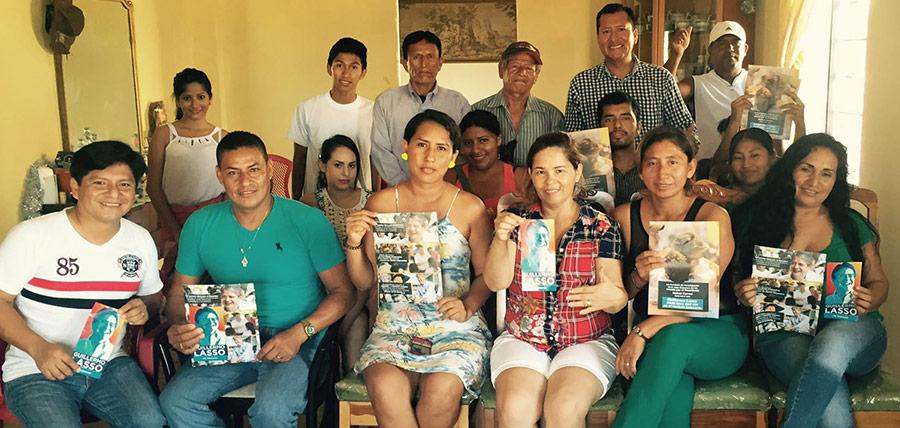 Continuando con su trabajo la directiva de Santa Elena fortaleció la estructura de Anconcito, en Salinas