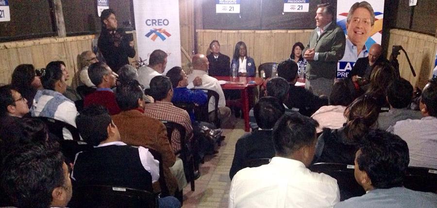 Continuando con el trabajo la directiva de CREO Pichincha realizó el fortalecimiento de diez directivas parroquiales en Tababela