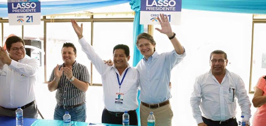 GUILLERMO LASSO LLEGA A MANABÍ PARA UN ENCUENTRO CON LAS 97 ESTRUCTURAS PARROQUIALES