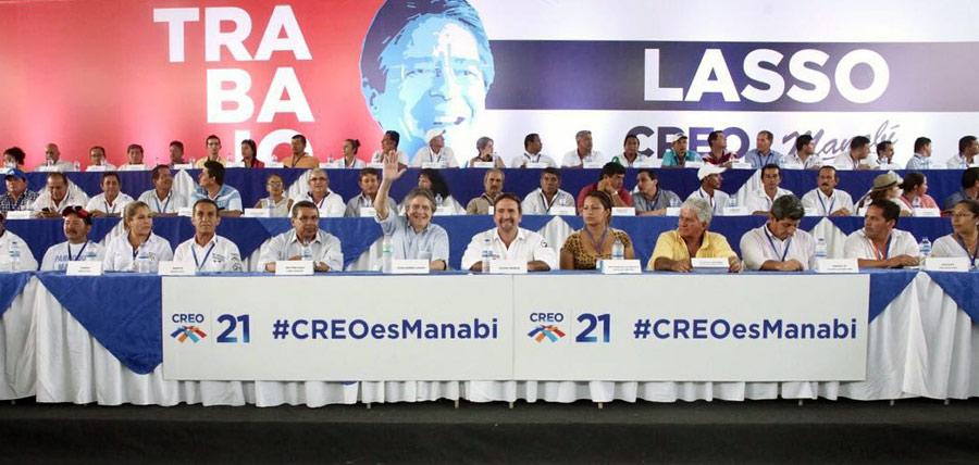 Lasso se reunió con la estructura de CREO de Manabí