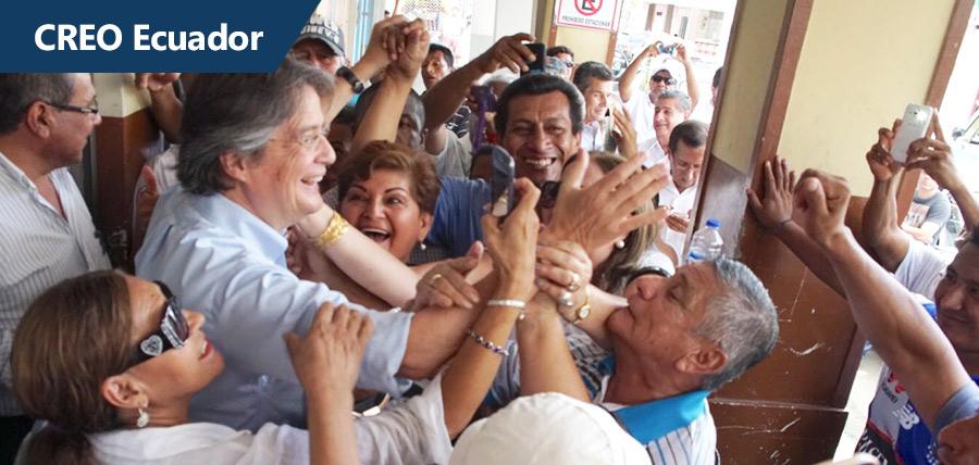 Guillermo Lasso llevó mensaje de CREO a Manabí