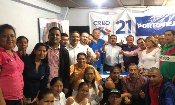 Desde la Parroquia Andrés de Vera en Portoviejo CREO arma su estructura territorial Lasso 2021