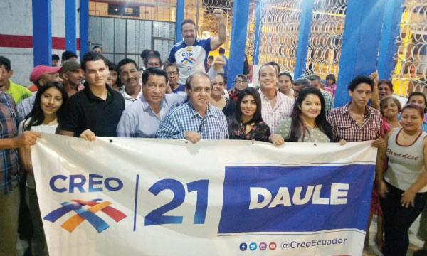 CREO fortalece su trabajo en Daule y formaliza al equipo territorial frente a las presidenciales
