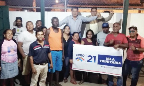 Desde la Isla Trinitaria CREO posesiona a su nueva directiva territorial