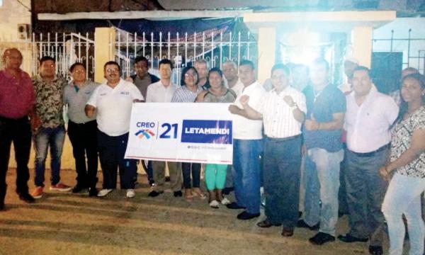 En la ciudad de Guayaquil CREO posesiona su nueva Directiva de Letamendi