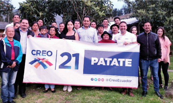 Desde Patate CREO posesiona a su nuevo equipo de trabajo para las elecciones seccionales