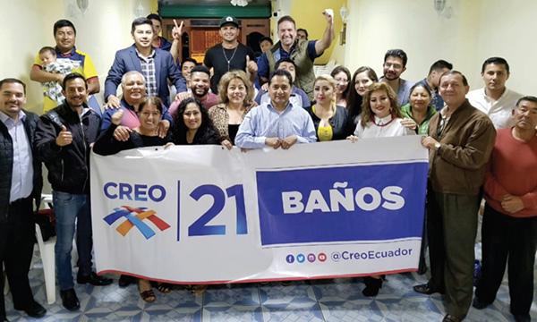 CREO empodera al nuevo equipo de trabajo de CREO Baños para fortalecer Tungurahua